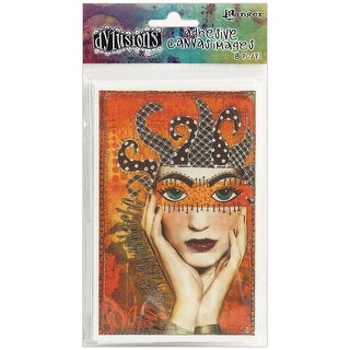 "Dyan Reaveley's Dylusions Adhesive Canvas 3.375""X5.25"" 8/Pkg-Printed"