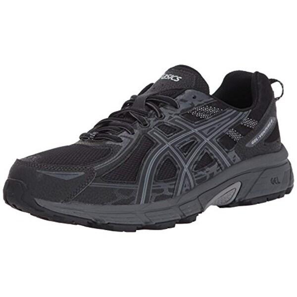 4aa38737076 ASICS Mens Gel-Venture 6 Running Shoe, Black/Phantom/Mid Grey, 10 4E US