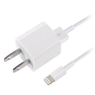 Apple iPhone 8 & 7 Travel Charger, 1 M lighting cable w 5 Watt Wall Cube, White Bulk