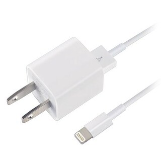 Apple iPhone X, 8 & 7 Travel Charger, 1 M lighting cable w 5 Watt Wall Cube, White Bulk