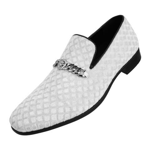 Amali Mens Diamond Quilted Velvet Slip On