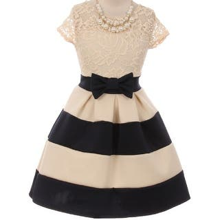 Flower Girl Dress Stripe Pattern Lace Bodice with Necklace Navy JKS 2016 (Option: 4)|https://ak1.ostkcdn.com/images/products/is/images/direct/54751e3a28ff4355ced57772265714cad65a73b2/Flower-Girl-Dress-Stripe-Pattern-Lace-Bodice-with-Necklace-Navy-JKS-2016.jpg?impolicy=medium