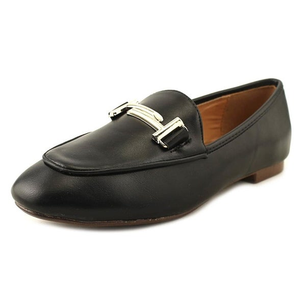 GC Shoes Vice Women Round Toe Leather Black Loafer