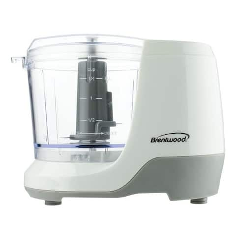 Brentwood 1.5 Cup Mini Food Chopper in White