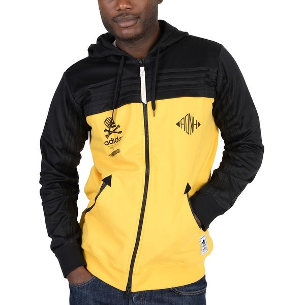 6244414dd427 Adidas Mens Adidas Originals Neighborhood Zip Up Hoodie Yellow -  Yellow Black