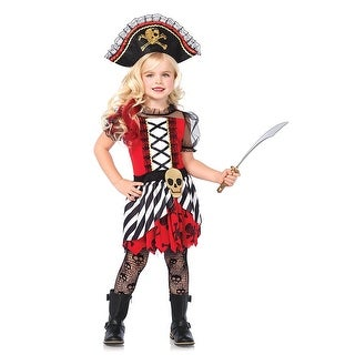 Rogue Pirate 2-Piece Girl's Costume - Red