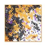Pack of 6 Black, Orange and Purple Trick or Treat Halloween Celebration Confetti Bags 0.5 oz. - Black