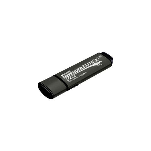 Kanguru Solutions KDFE30-64G Kanguru Defender Elite30, Hardware Encrypted, Secure, SuperSpeed USB 3.0 Flash Drive, 64G - AES