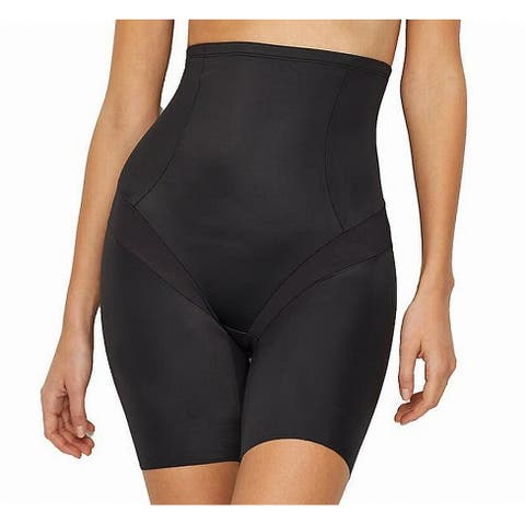 Miraclesuit Black Womens Size 2X Plus Slimming Shorts Pull-On Shapewear