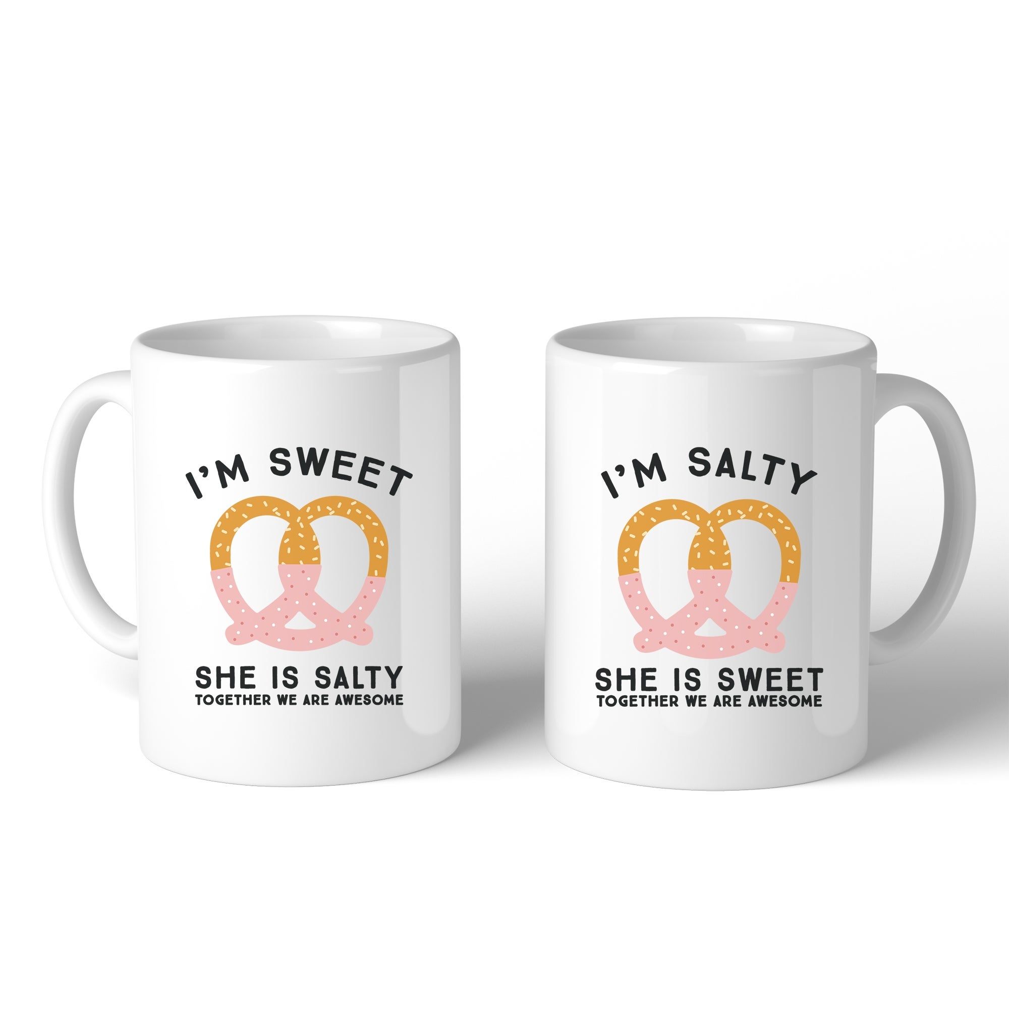 Sweet And Salty Cute Graphic Ceramic Mugs 11oz Funny Friends Gifts Overstock 16852032