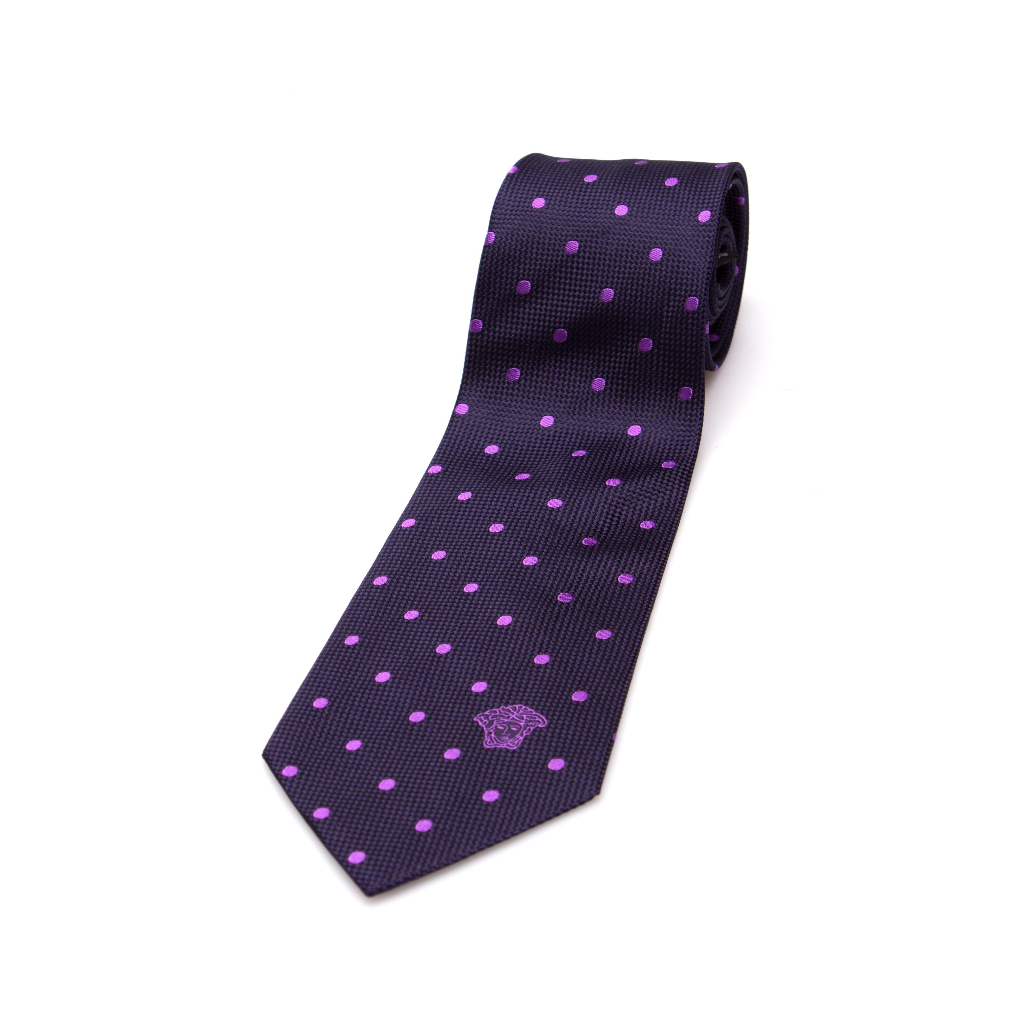 Versace Men's Medusa Head Slim Silk Necktie - Thumbnail 0