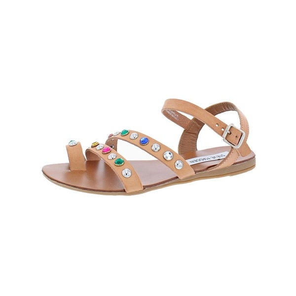 4033e6d2893 Shop Steve Madden Womens Sunset Flat Sandals Strappy Embellished ...