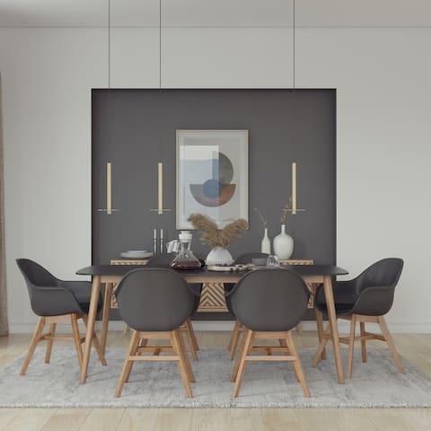Amazonia Eucalyptus Ambar 7 Piece Dining set - With Cushions