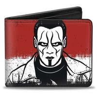 Sting Pose Splatter Red White Black Bi Fold Wallet - One Size Fits most