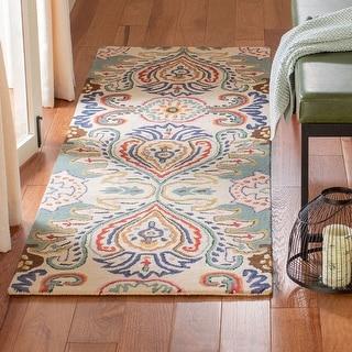 Link to Safavieh Handmade Bella Kenzie Modern Floral Wool Rug Similar Items in Transitional Rugs
