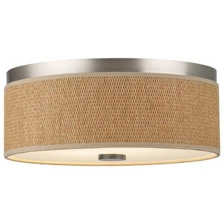 "Forecast Lighting F615136NV 2 Light 14.88"" Wide Flush Mount Ceiling Fixture from the Cassandra Collection"