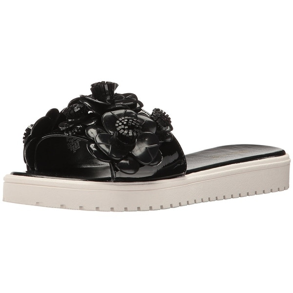 Nine West Womens Relly Open Toe Casual Slide Sandals