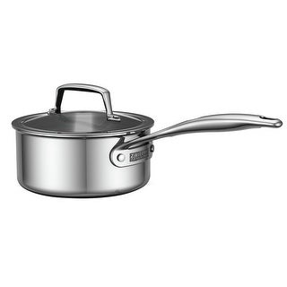 zwilling energy 3ply 2qt stainless steel saucepan wlid