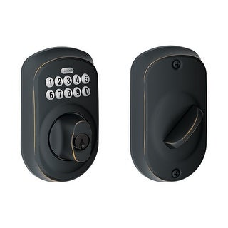 Schlage BE365-PLY Plymouth Electronic Keypad Single Cylinder Deadbolt - N/A