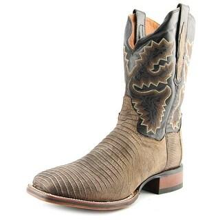 Dan Post Lizard   Square Toe Leather  Western Boot