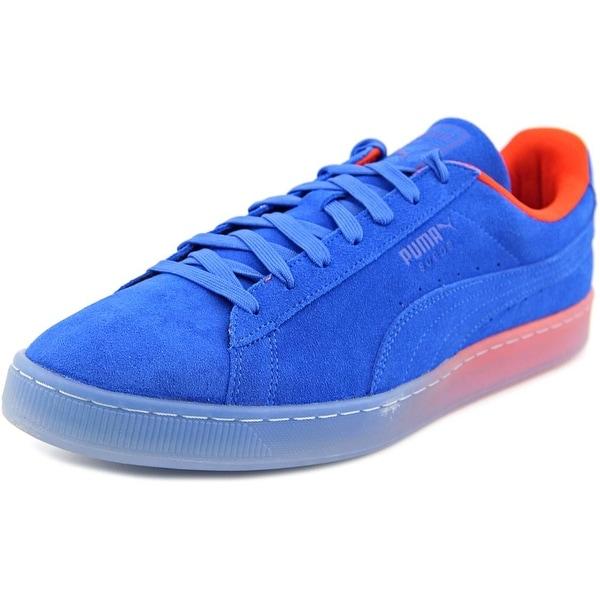 Puma Suede Classic Fade Future Men Round Toe Suede Blue Sneakers