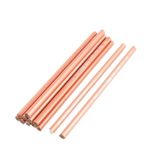 School Triangle Writing Drawing Sketching Coral Pink Wooden Pencils 12 Pcs