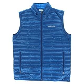 Columbia Mens Flash Forward Vest Dark Blue - Dark blue - L