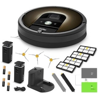 iRobot Roomba 980 Vacuum Cleaning Robot + 2 Virtual Wall Barriers + 3 SideBrushes + 4 HEPA Filters + AeroForce Extractors + More