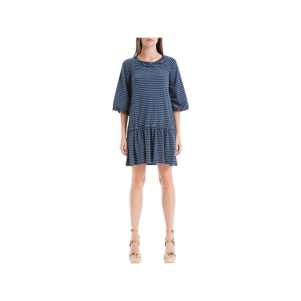 2652c71ef5 Shop Max Studio Womens Melina Casual Dress Dropped Waist Striped ...