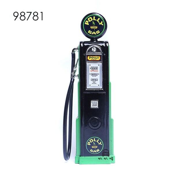 Road Signature Vintage Gas Pump Gasoline Round - Antique Black