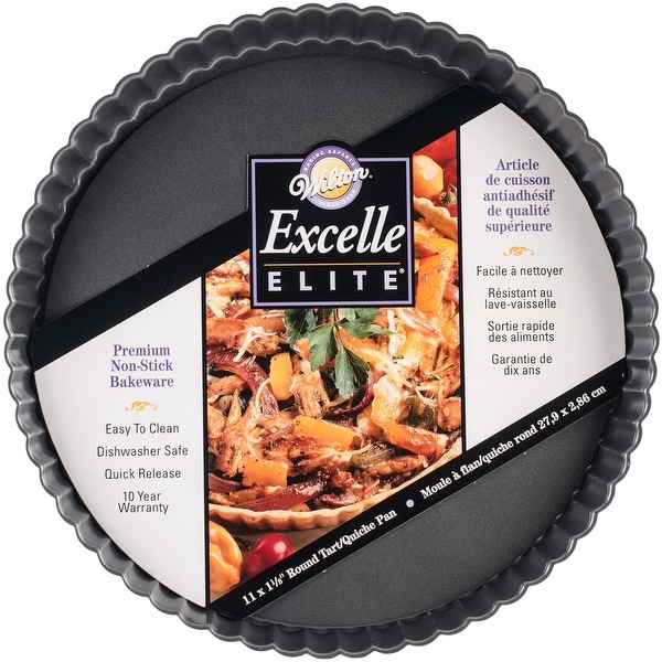 Excelle Elite Tart/Quiche Pan-Round W/Fluted Edge 11""