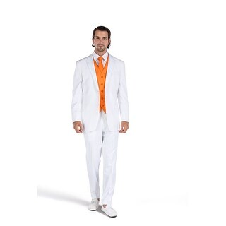 Porto Filo 2 Pcs White Tuxedo Slim-Fit Men's (Jacket+ Pant)