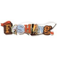 Stacked Statement Stickers-Gone Fishing
