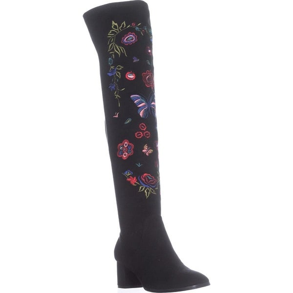 Impo Judy Embroidery Over The Knee Boots, Black