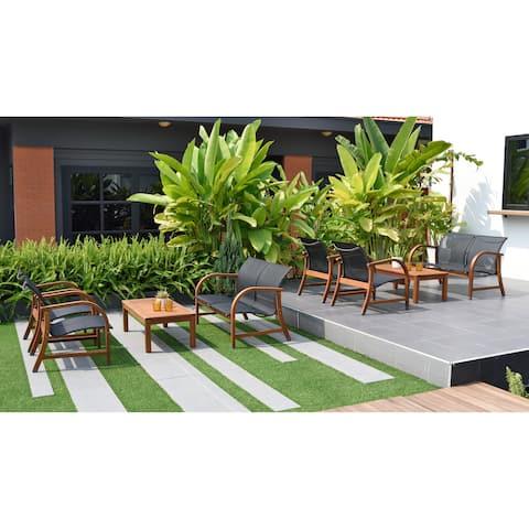 Amazonia Cosmopolitan 8-piece Conversation Patio Furniture Set