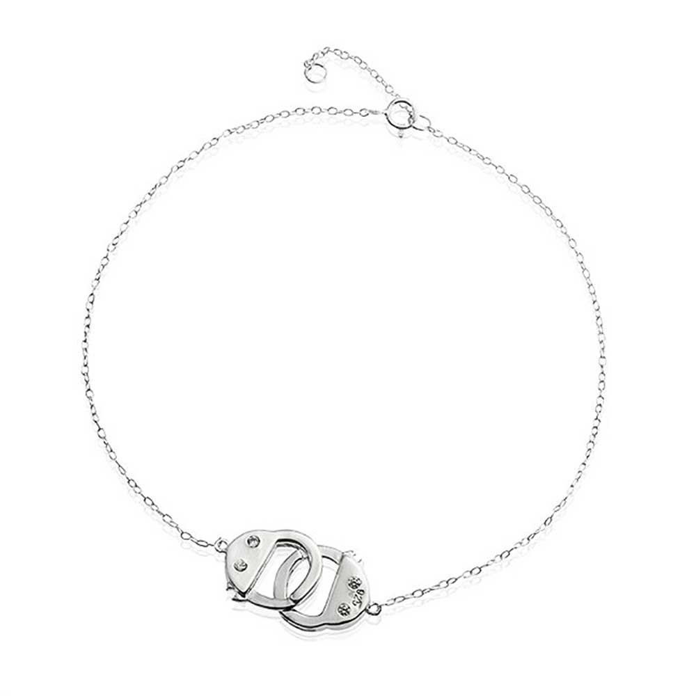 Jewels Obsession Handcuffs Pendant 16 mm Sterling Silver 925 Handcuffs Pendant