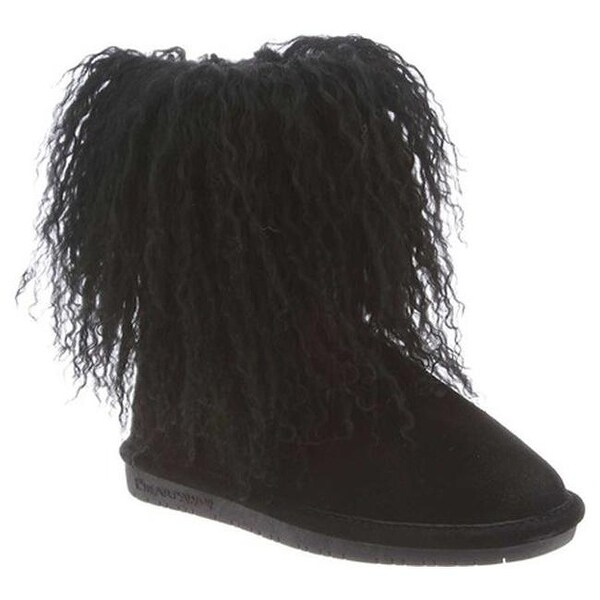 Shop Bearpaw Girls Boo Ankle Boot Black Ii Cow Suede