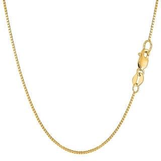 Mcs Jewelry Inc 14 KARAT YELLOW GOLD BOX CHAIN (1.1mm)