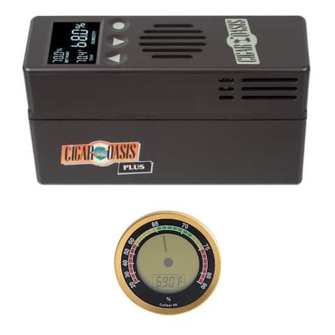 "Cigar Oasis PLUS 3.0 Electronic Cigar Humidifier w/ Analog Hygrometer - 6"" x 2"" x 3.5"""