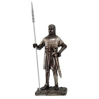 "Crusader Knight Standing 7"" Statue 8715 - multi"