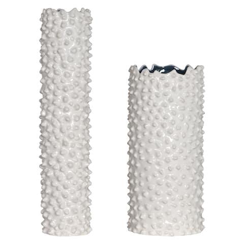 Uttermost Ciji White Vases (Set of 2)