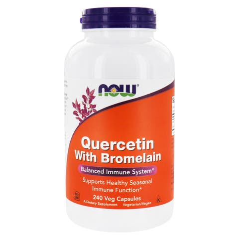 NOW Foods - Quercetin With Bromelain - 240 Vegetable Capsule(s)