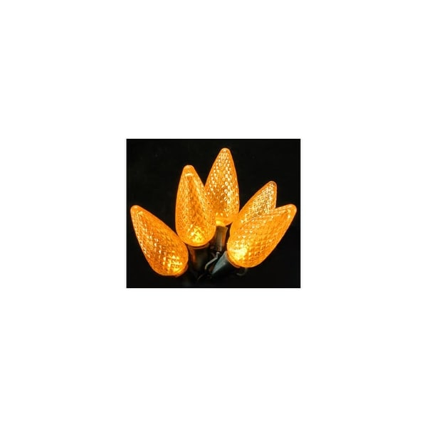 Christmas at Winterland C-25C9OR-12G 25 Foot Commercial Grade A String of Orange C9 E17 Base LED Lights with 12 Inch Spacing and