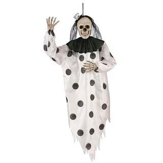 Fun World 91173K Halloween Hanging Skeleton Clown, Black & White