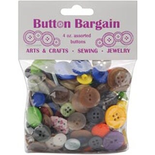 Button Bargain 4 Ounces-Assorted Colors
