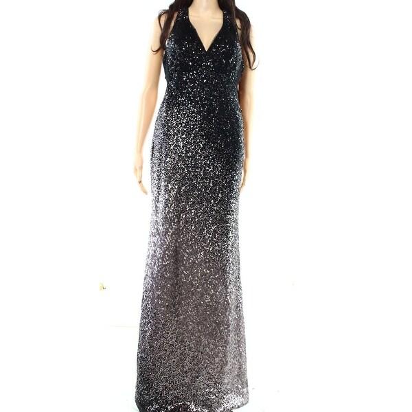 Shop Xscape NEW Black Womens Size 2 Ombre Sequin V-Neck Ball Gown ... ce325ae58d6e