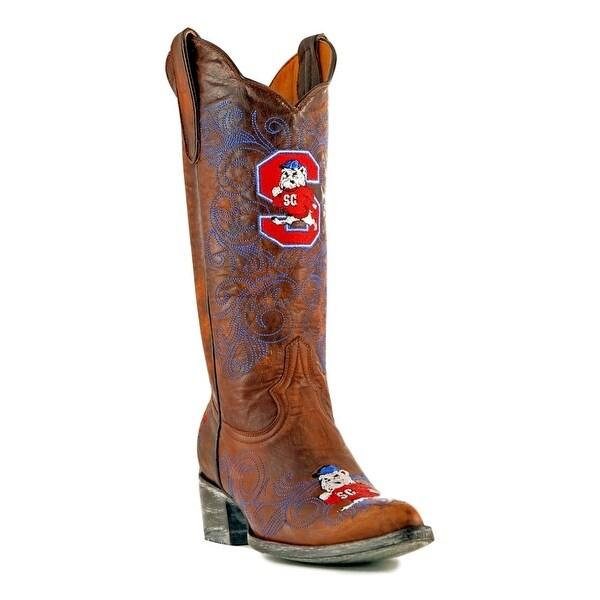 Gameday Boots Womens College S Carolina State Bulldog Brass
