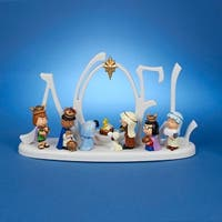 "Peanuts Battery Operated LED Lighted Christmas Nativity Set 10""- Battery Included"