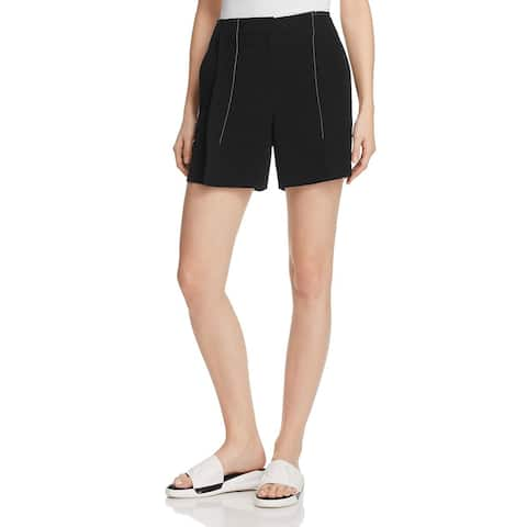 DKNY Womens Shorts Contrast Stitching Pleated