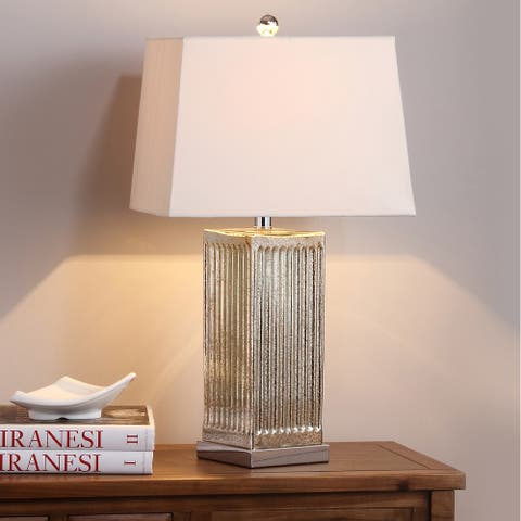 "Safavieh Lighting 27-inch Clear Rock Crystal Table Lamp (Set of 2) - 14""x14""x27"""
